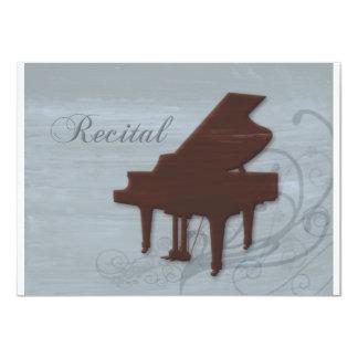 Piano Recital Invitation in Seabreeze Blue