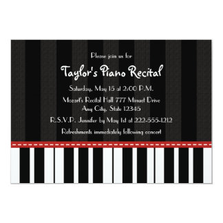 """Piano Recital Invitations Invites 5"""" X 7"""" Invitation Card"""