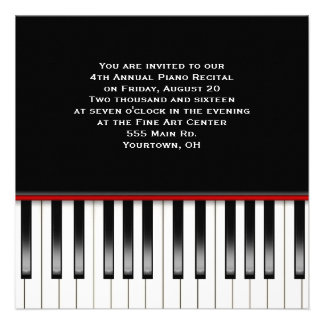 Piano Recital Keyboard Personalized Announcements