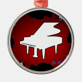 PIANO RED BACKGROUND PRODUCTS CHRISTMAS ORNAMENT