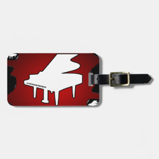 PIANO RED BACKGROUND PRODUCTS LUGGAGE TAG