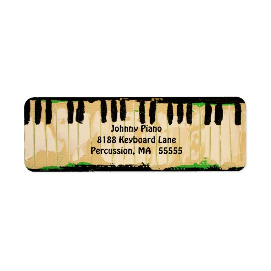 Piano return address labels
