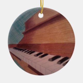piano round ceramic decoration
