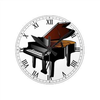 Piano Round Clock