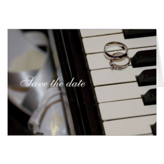 Piano - Save the Date card