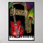Piano, Sax & Guitar Jazz Poster