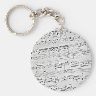 Piano score keychains