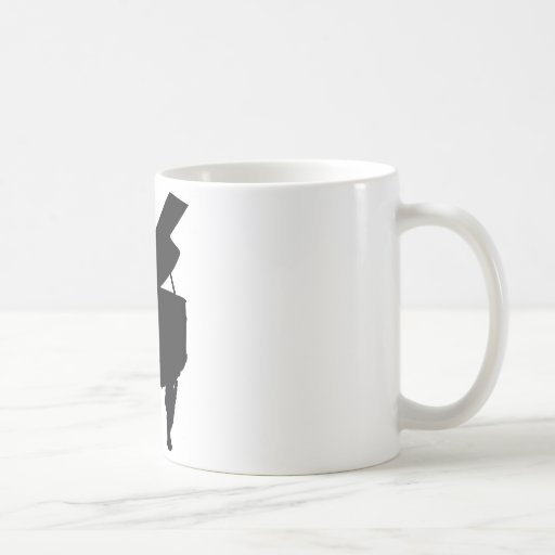 Piano Silhouette Mugs