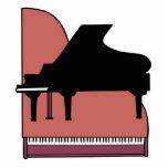 piano silouhette design photo sculptures