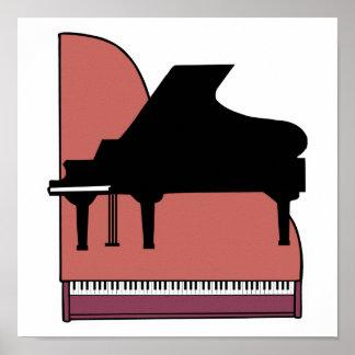 piano silouhette design poster