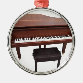 Piano Silver-Colored Round Decoration