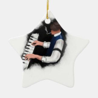 Piano Singer Christmas Ornament