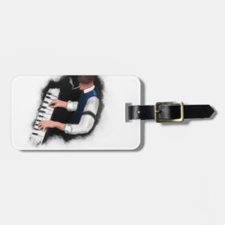 Piano Singer Luggage Tag