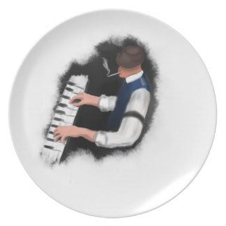Piano Singer Party Plates