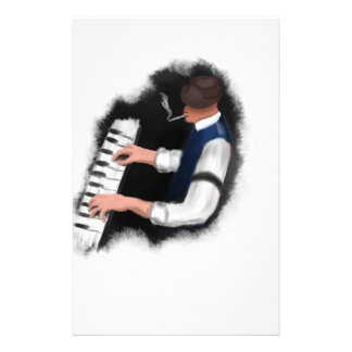 Piano Singer Stationery