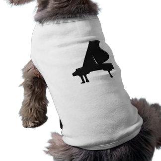 Piano Sleeveless Dog Shirt