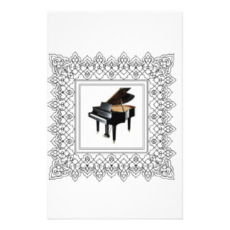 piano squared personalised stationery