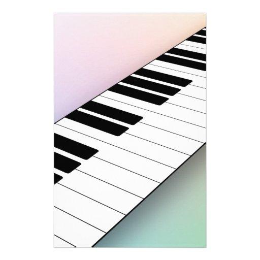 Piano Personalized Stationery