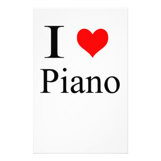 piano personalised stationery
