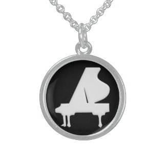 Piano Sterling Silver Necklace