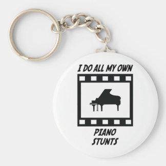 Piano Stunts Basic Round Button Key Ring