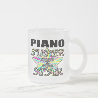 Piano Superstar Frosted Glass Mug