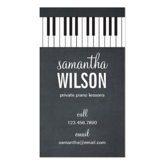 Piano Teacher Business Card
