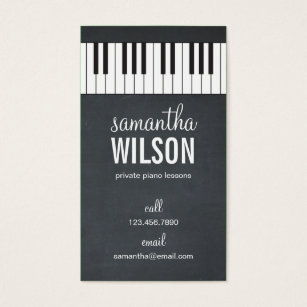 Piano business cards business card printing zazzle uk piano teacher business card colourmoves