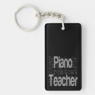 Piano Teacher Extraordinaire Double-Sided Rectangular Acrylic Key Ring