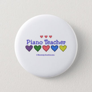Piano Teacher GH 6 Cm Round Badge