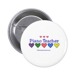 Piano Teacher GH 6 Cm Round Badge