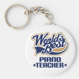 Piano Teacher Gift Basic Round Button Key Ring