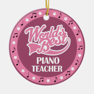 Piano Teacher Gift For Her Christmas Ornament