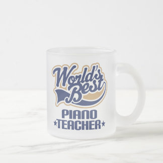 Piano Teacher Gift Frosted Glass Mug