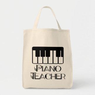 Piano Teacher Keyboard Music Grocery Tote Bag