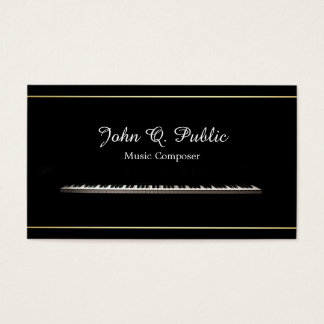 Piano Teacher Music Composer Professional Elegant Business Card