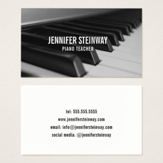 Piano Teacher Pianist Business Card