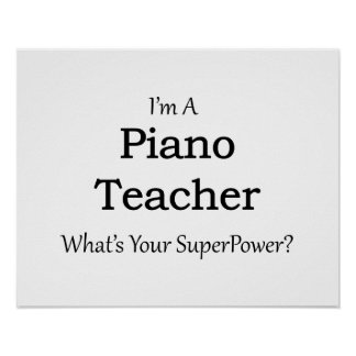 Piano Teacher Poster