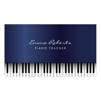 Piano Teacher Royal Blue Musical Pack Of Standard Business Cards