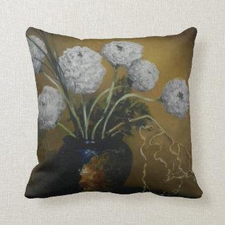 Piano Top Floral Throw Pillow