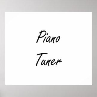 Piano Tuner Artistic Job Design Poster
