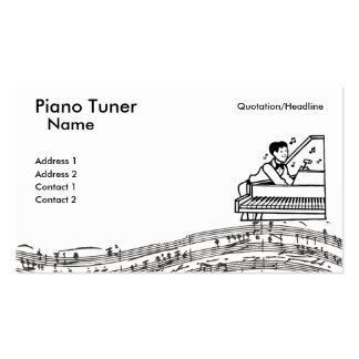 Piano Tuner Business Card Templates