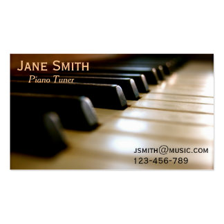 Piano Tuner freelance music professional Business Card Templates