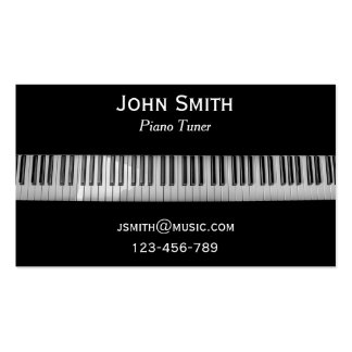 Piano Tuner freelance music professional Pack Of Standard Business Cards