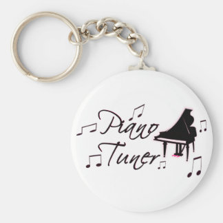 Piano Tuner Music Notes with Pink Pedals and Trim Key Chains