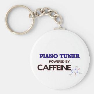 Piano Tuner Powered by caffeine Keychains