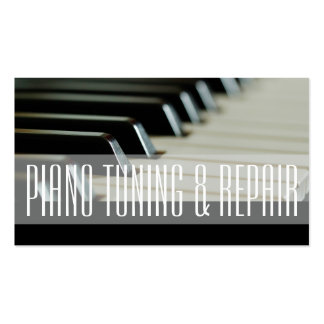 Piano Tuning & Repair Music Instructor Business Pack Of Standard Business Cards