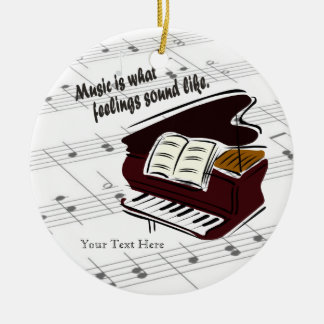 Piano Version What Feelings Sound Like - Customize Round Ceramic Decoration