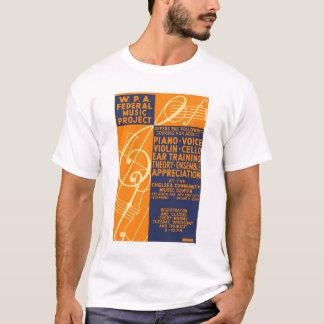 Piano Violin Classes 1939 WPA T-Shirt