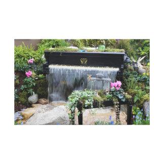 Piano Waterfall Canvas Print